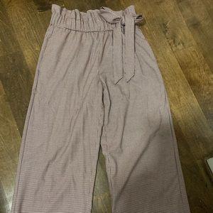 Zara houndstooth maroon pants